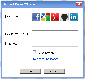 Project Kaiser: Login with social network account